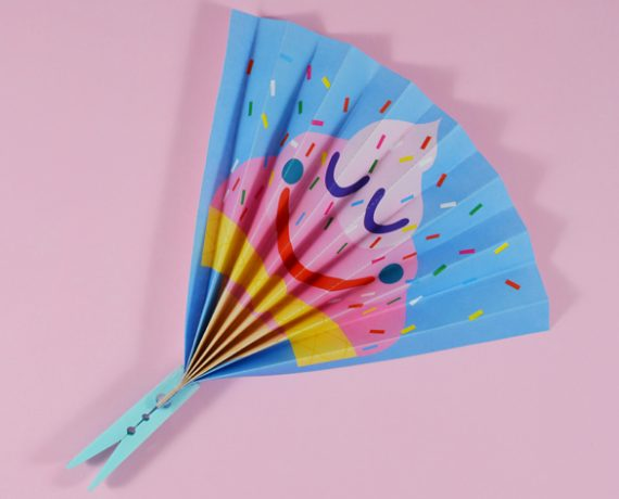 ICE CREAM PAPER FAN