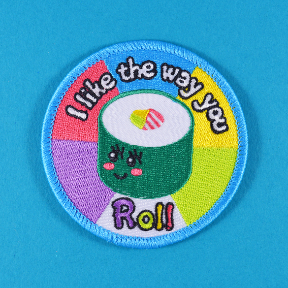 I Like The Way You Roll iron-on patch product photo.