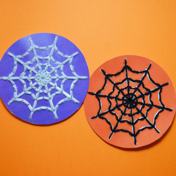 Spider Web Sewing Cards