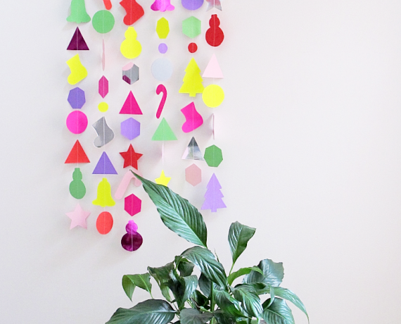 Paper Christmas Garland