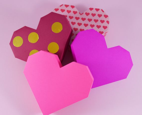 Heart Gift Box Printable