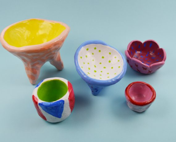 Air Dry Clay Vessels
